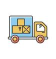goods receipt rgb color icon logistics vector image