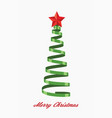 greeting cards with christmas tree vector image