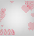heart with grey background vector image vector image