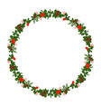 holly berry round border for christmas cards vector image vector image