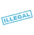 Illegal Rubber Stamp vector image vector image