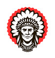 indian chief logo or symbol warrior mascot vector image