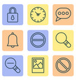 internet icons set with remove clock decrease vector image vector image