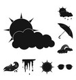 isolated object of weather and climate icon vector image