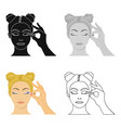 makeup single icon in cartoon style makeup vector image
