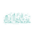 modern city with ecological infrastructure and vector image vector image
