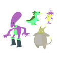 monster character funny design element vector image vector image