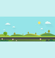nature landscape background cute flat vector image vector image