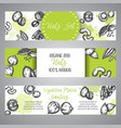 nuts and seeds banner set hand drawn vector image vector image