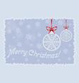 postcard snowballs vector image vector image
