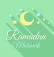 Ramadan Mubarak greeting background vector image vector image