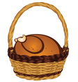 Roasted Turkey in a Basket2 vector image