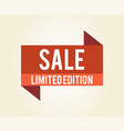 sale limited edition icon vector image