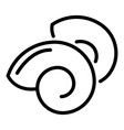 sea snail icon outline style vector image