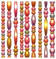 seamless pattern with colored beads vector image vector image