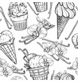 seamless pattern with ice cream and vanilla pods vector image