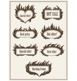 Set of burning fire frame borders vector image vector image