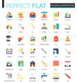 set of flat building construction icons vector image vector image