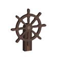 ship steering wheel symbol flat isometric icon or vector image