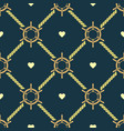 ship steering wheels and hearts seamless pattern vector image vector image