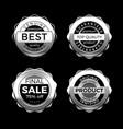 silver premium sale badges set design elements vector image vector image