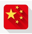 Simple flat icon China flag vector image