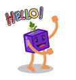 smiling grape fruit cartoon mascot character vector image