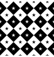 Star Black White Chess Board Diamond Background vector image vector image