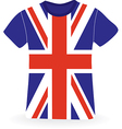 T-shirt with flag of UK vector image