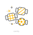 Thin line icons Candy vector image