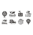 Travel set icons Handwritten lettering Label vector image