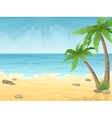 tropical beach with palms tree vector image vector image