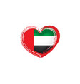 united arab emirates flag on vector image vector image