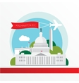 united states capitol - the symbol us vector image