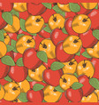 vintage apple seamless pattern vector image vector image