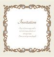 vintage gold background square jewelry frame vector image vector image