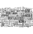 when is an adjustable rate mortgage a good idea vector image vector image