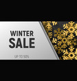 winter sale banner template in trendy fashion vector image vector image