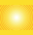 yellow radial circural background vector image vector image