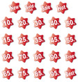 discount labels380x400 vector image