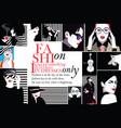 fashion women in style pop art vector image