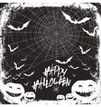 halloween background design black and white colors vector image