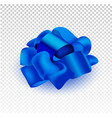 present silk bow 3d realistic iilustration vector image