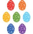 a set ornamental easter eggs vector image vector image