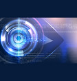 abstract cyber eye with glowing background vector image
