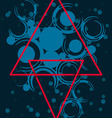 abstract with red triangles vector image vector image