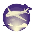 Airplane in flat design vector image