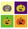 assembly flat icons halloween emotion pumpkin vector image vector image