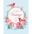 Beautiful vintage card with birds vector image vector image