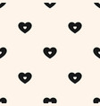 black and white hearts pattern valentines day vector image